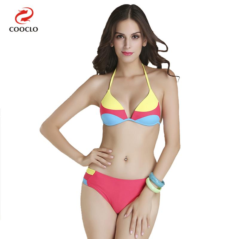 hot patchwork colori di stampa superiore del triangolo bikini costumi da  bagno donna marcachina 2b3f480a08b