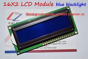Image 1 - Free Shipping 10PCS LCD1602 1602 module Blue screen 16x2 Character LCD Display Module HD44780 Controller blue blacklight