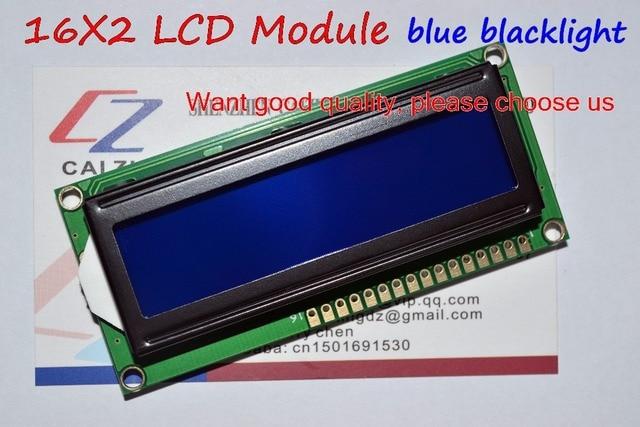 Freies Verschiffen 10PCS LCD1602 1602 modul Blauen bildschirm 16x2 Zeichen LCD Display Modul HD44780 Controller blauen schwarzlicht