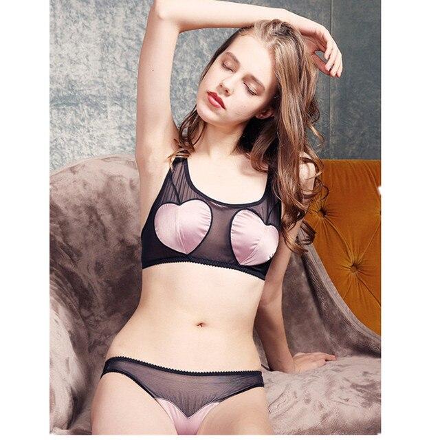 00e6730420 Satin Bralette Briefs Soft Triangle Bra Panty Sets Sexy Intimates Crop Top  Very Sexy Underwear