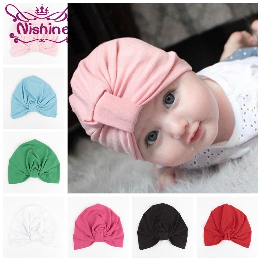 Hats & Caps Hollow Out Flower Knot Soft Bohemian Style Indian Baby Hat Baby Beanie Baby Girls Hats Spring Autumn For Children Accessories