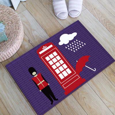 Blue Red Uk Royal Solider Floor Mats