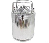 9L Mini Keg 304 Stainless Steel Beer Growler Mini Beer Barrel Holds Beer Tools Thickness 1MM Ball Lock Cornelius Style Beer Keg