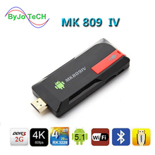 ByJoTeCH NEWest 4K Upgrade MK809IV TV Dongle Stick Android TV Box RK3229 Quad Core 2G 8G 2G 16G Mini PC WiFi Android box 4K