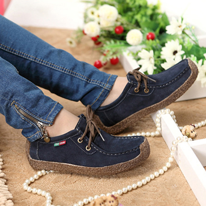 Fashion Wild Lace up Women Flats Comfortable Footwear Summer Loafers Women  Shoes Breathable Female leather Casual Shoes ADT90-in Women s Flats from  Shoes on ... 63d5d3b9f