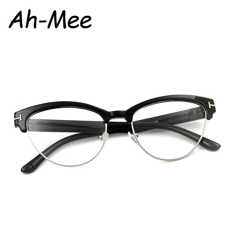 Vintage Brillen Frauen Marke Designer Cat Eye Nerd Brille Retro ...