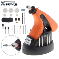 X POWER Multifunction 3 6V Rechargeable Cordless Mini Drill 12000RPM Electric Grinder Power Tools EU Plug