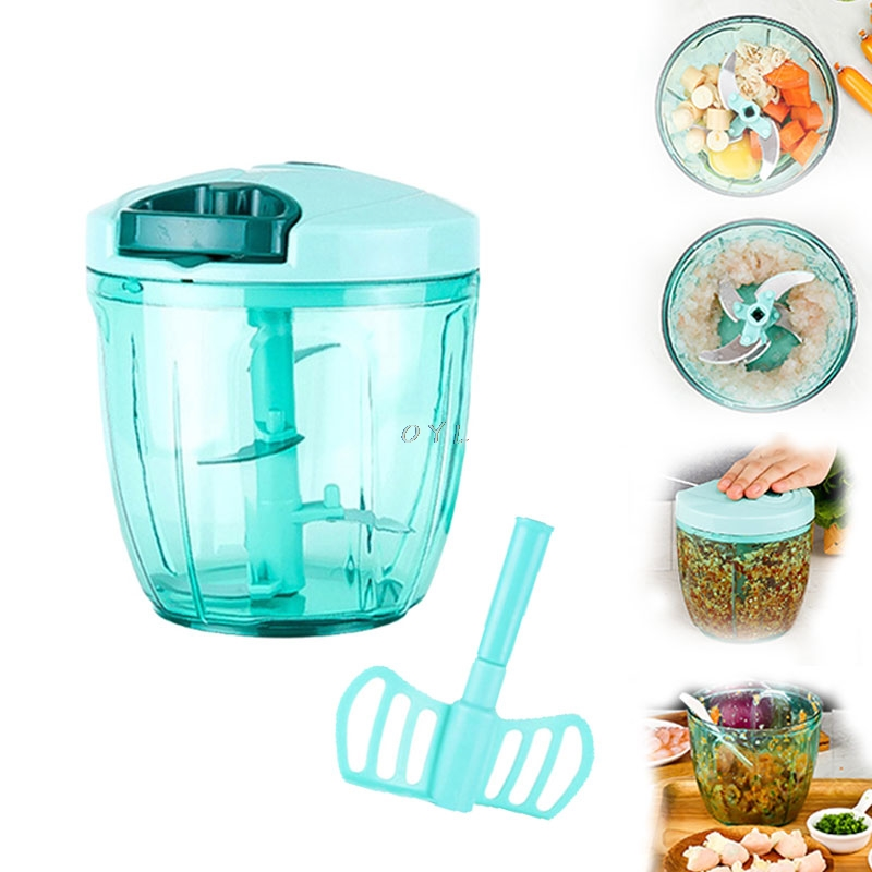 Manual Food Processor Chopper Blender Slicer Safe Free Durable Portable Kitchen Household Vegetables Fruit Meat Processor