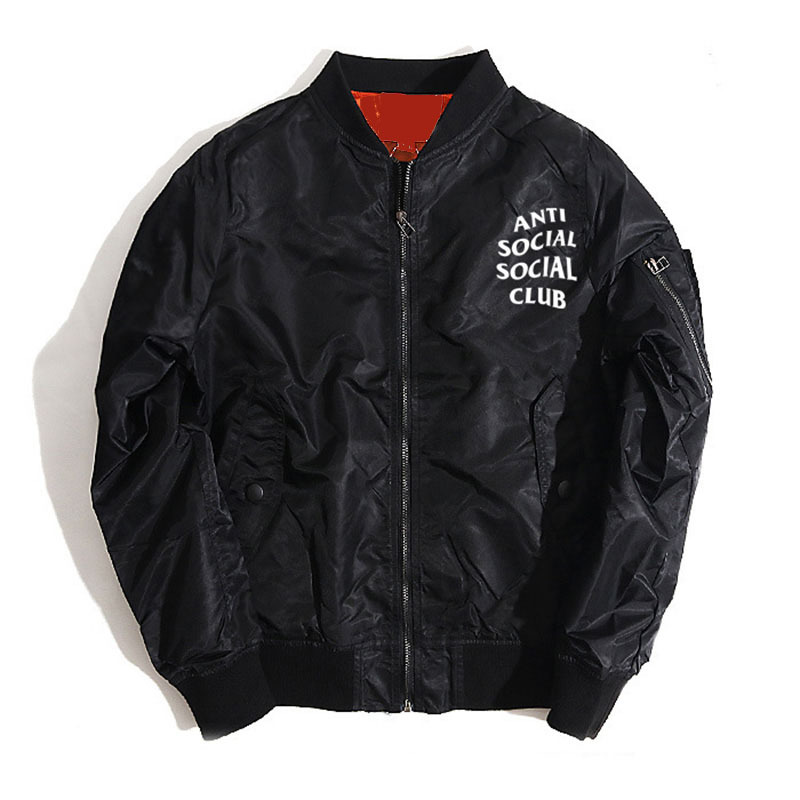 fashion jacket men letter printed anti social club loose casual bomber jacket coat homme brand clothing yeezy spring overcoat z5