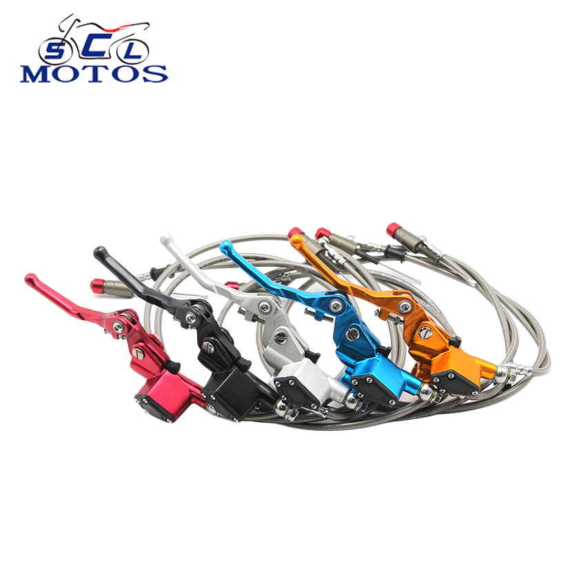 Sclmotos coloridos embrague hidráulico de la motocicleta cilindro maestro Rod Fit ATV Motocross Pit Bike repuestos de 1200mm