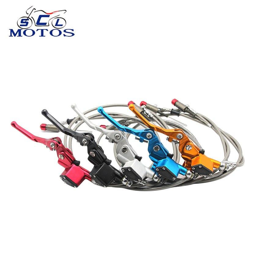 Sclmotos coloridos embrague hidráulico de la motocicleta cilindro maestro Rod Fit ATV Motocross Pit Bike repuestos de 1200mm