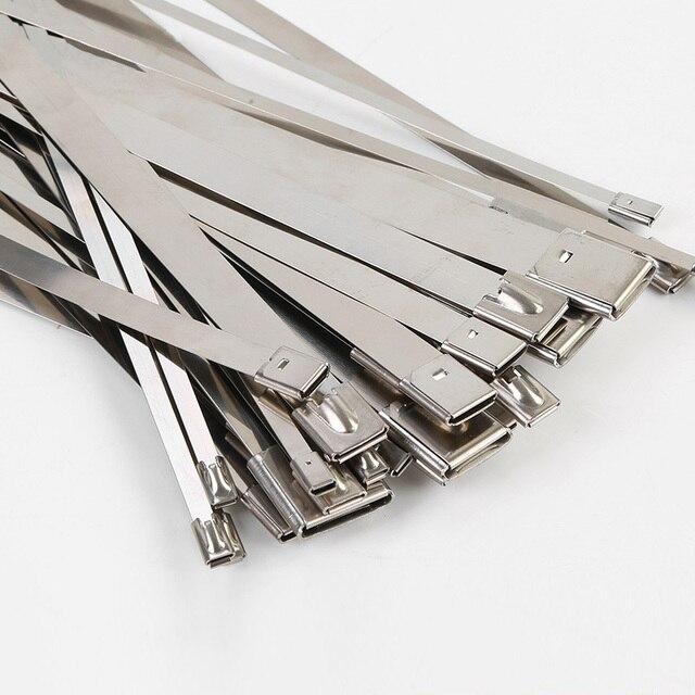 10PCS cable wire metal tie metalic zip ties sangle plastique strap ...