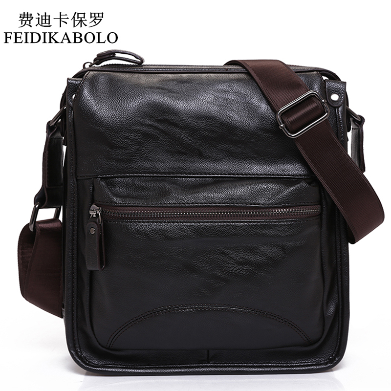 FEIDIKABOLO New Man Leather Bag High Quality Fashion Shoulder Bags Men Bag Messenger Male Bag Designer Brand Luxury Handbags new fashion man bag high quality nylon men messenger bags black famous brand waterproof male shoulder crossbody bag fb3102