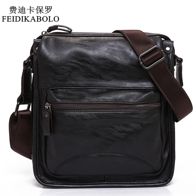 8e5115868cc7 FEIDIKABOLO New Man Leather Bag High Quality Fashion Shoulder Bags Men Bag  Messenger Male Bag Designer