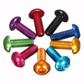 10pc 7075 Aluminum Alloy M3 Hex Socket Screw 10mm Multifarious Color Easy To Process Good Wear Resistance