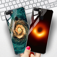 Black Hole Glass Case For OPPO F7 Case 9H Temepred Glass Back Cover For OPPO F5 Youth F9 Pro R17 Pro Phone Cases Bumper Capa аксессуар защитное стекло для oppo f7 2018 media gadget 2 5d full cover glass black frame mgfcof718bk