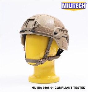 Image 1 - MILITECH Desert Tan DE MICH NIJ level IIIA 3A Tactical Bulletproof Aramid Helmet ACH ARC OCC Dial Liner Aramid Ballistic Helmet