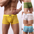 1 Pcs Men Sexy Translucent Underwear Panties See Through Mesh Holes Net Mesh Boys Cute For Gay Culb Wear