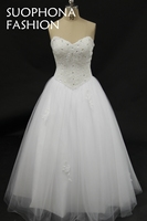 Hot sale Vestidos de noiva Ball gown Wedding dresses 2017 Beading Pearls Sexy Wedding gowns Bridal dress Vestido De Casamento