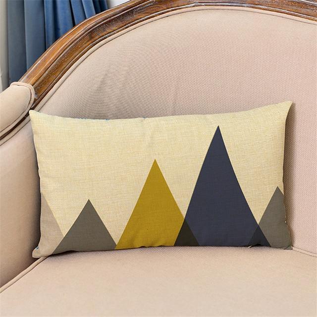 40X40cm Decorative Lumbar Pillow Case Classic Geometric Waist Stunning Decorative Lumbar Pillows For Chairs
