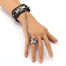One Piece Luffy Punk Leather Bracelet Link Charm