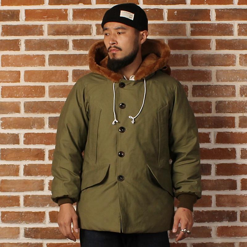 Mans US air force B9 cotone e lana super-caldo anatra giacca