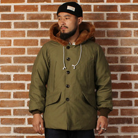 mans US air force B9 cotton & wool super warm duck jacket