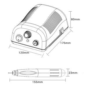 "Image 2 - 90 W 50000 סל""ד Brushless מנוע חשמלי נייל מקדחת מכונת רפואת שיניים מעבדה ירקן גילוף מניקור חנות לטש ציוד"