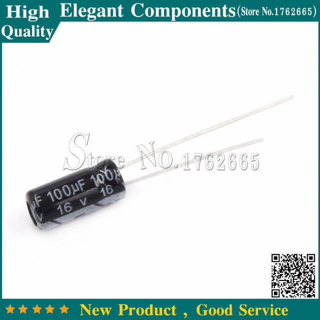 50 sztuk 100 UF 16 V 16 V 100 UF kondensator elektrolityczny aluminium 16 V/100 UF rozmiar 5*11 MM kondensator elektrolityczny