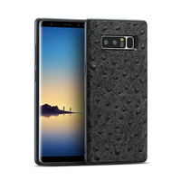 Luxury Genuine Leather Phone case For Samsung S8 S9 Plus Ostrich texture all inclusive cases For A50 A70 J5 J7 2017 Note 8 cover