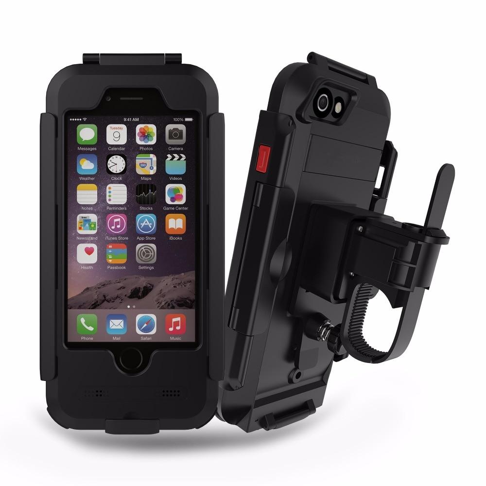 Étanche antichoc vélo vélo moto guidon support de montage coques de téléphone pour iphone 6 6s 5 5s se 6 6 s plus 7 7 plus