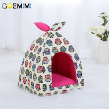 New Winter Cat Cave House Lovely Soft Foldable Bed For Puppy Dog Comfortable Pet Kennel Sleeping Bag cats