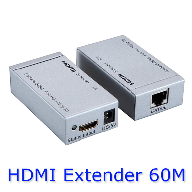 Kaycube HDMI Extender By single UTP CAT5e/CAT6 Cable Extend HDTV up To 60 Meters For 1080P Transmitter And Receiver Super hsv379 hdmi extender over coaxial cable with no latency time and video lossless hdmi coax transmitter and receiver by rg59 6u