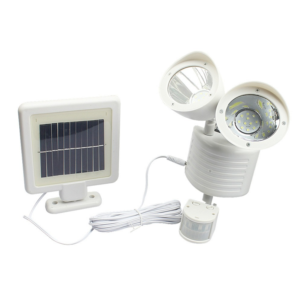 22 LED Solar Sensor Lighting Solar Lamp Powered Panel LED Street Light Utomhusväg Wall Emergency Lamp Security Spot Light