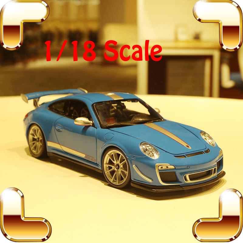 New Year Gift GT3 RS4.0 1/18 Metal Model Car Collectable Vehicle Delicate Work Fashion Car Frame Simulation Toys Men Favour Item 1 18 otto 2014 renault rs 01 super sports car resin model simulation models