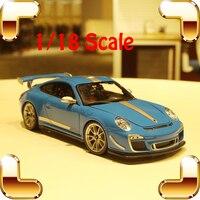 Presente de Ano novo GT3 RS4.0 1/18 Modelo De Carro de Metal Colecionáveis veículo de Trabalho Delicado Moda Quadro de Carro de Simulação Brinquedos Homens Do Favor Item