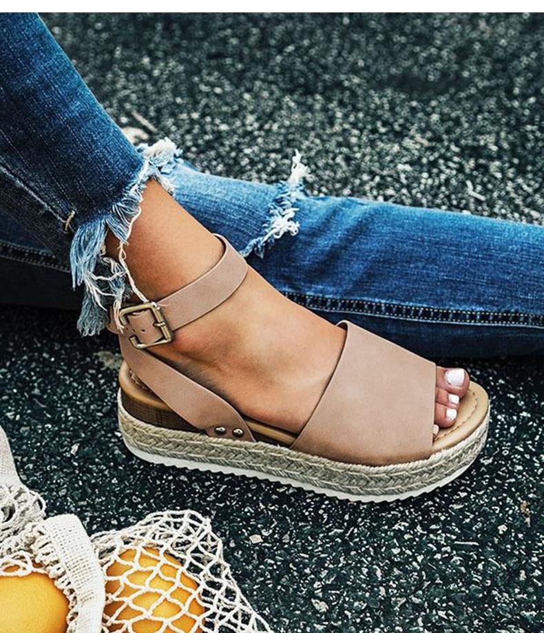 Women High Heels Sandals Summer Shoes Flip Flop Chaussures Femme Platform Sandals 37