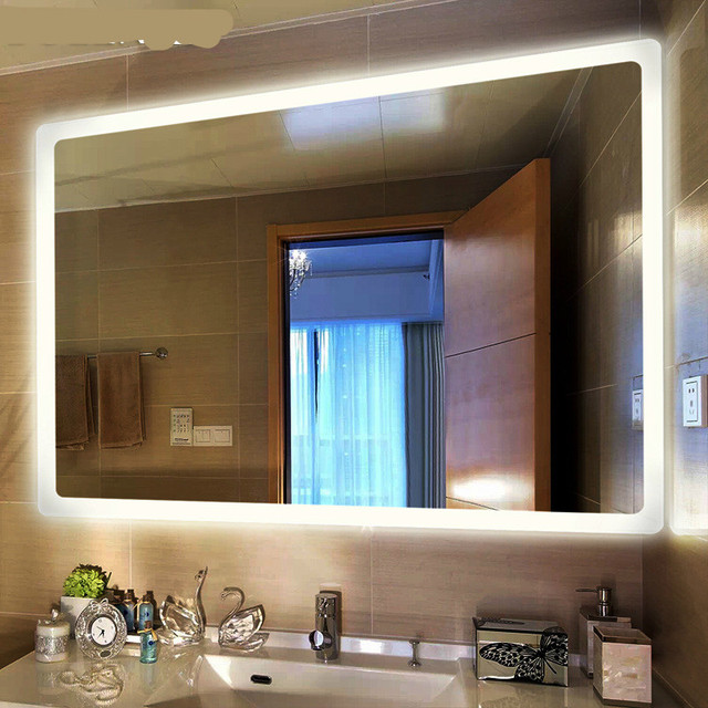 High End Modern Simple Defogged 50*70/60*80cm Led Light Mirror For ...