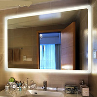 High End Modern Simple Defogged 50*70/60*80cm Led Light Mirror For Bathroom Hotel 80 265v Mirror Light 1192