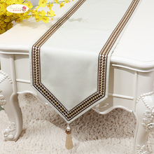 Proud Rose простой льняной стол флаг кровать бегун скатерть чайный столик ТВ покрытие шкафа ткань на заказ