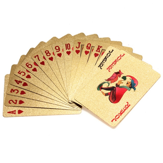 Style Poker Cards 24K Carat Novelty