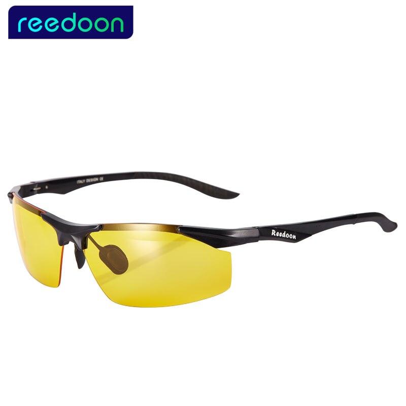 REEDOON polarizadas gafas de sol hombres gafas de visión nocturna hombres conducción pesca gafas Oculos Anti-reflejo gafas de sol para hombres