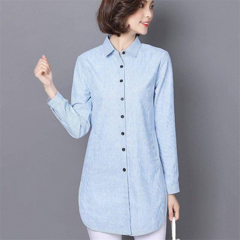 VogorSean Women Plus Size   Blouses   Long Sleeve Striped   Blouse     Shirt   Woman 2018 New Spring Autumn Fashion Casual Female Tops