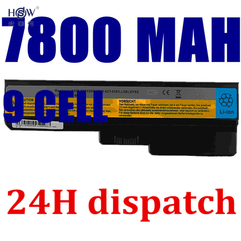 HSW 7800 mAh batería para lenovo G550 G430 G450 G530 N500 G430 Z360 L06L6Y02 L08L6C02 L08O6C02 L08S6C02 L08S6Y02 51J0226 57Y6266