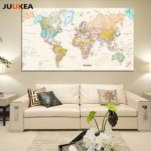 Best framed world maps vintage brands juukea art poster wall picture nordic living room gumiabroncs Image collections