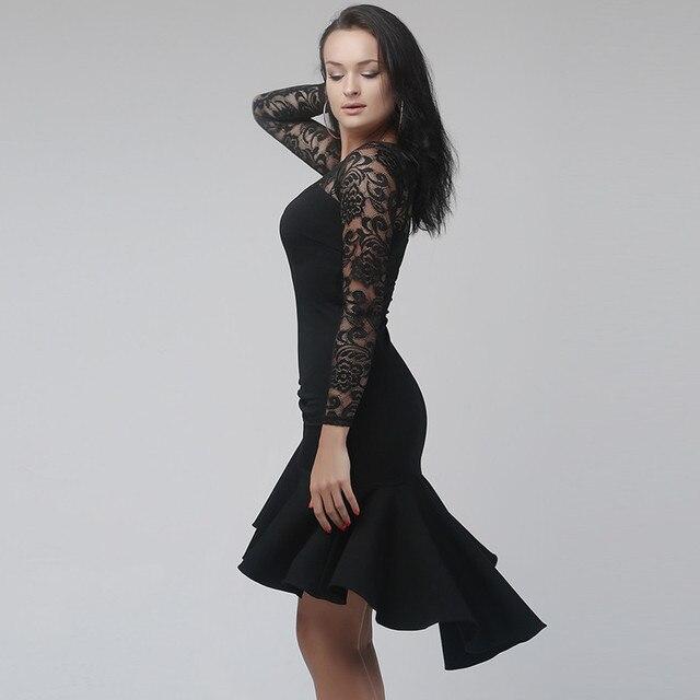 Black Lace latin dance dress fringe women latin dress dancing clothes  Dancewear dress latina salsa dress modern dance costumes 275c7f48c