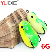 New 1Pcs 4cm 6g Red 3D Eyes Soft Cute Frog Lures Sharp Hooks Silicone Baits For Snakehead Fishing Tackle Wobblers Crankbait Tool