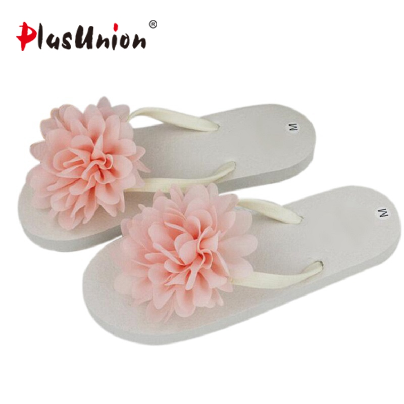 plusunion blue women summer outdoor slippers flower flip flops slides house home pink floral beach flop low flat seaside cool pink polka flip flop five piece pedicure set with matching tag