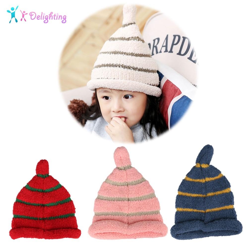 Kids Baby Hat Beanie Cap Pompom Winter Boy Girl Warm Knitted Crochet Ski Hats