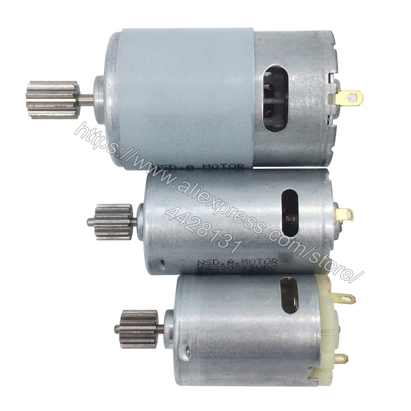 Children's electric car DC motor, kid's ride on car 12V and 24V motor,baby toy car engine 550 390 380(China)